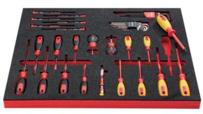 VIGOR Werkzeug-Sortiment ELECTRONIC - Elektronik-Schraubendreher und Zubehör, 39-teilig, in Hartschaumeinlage