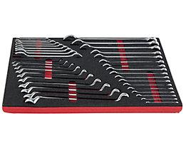 VIGOR Werkzeug-Sortiment KEY - Maul- und Ringschlüssel, 36-teilig in Hartschaumeinlage