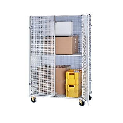 RIMO Aluminium-Rollbehälter - Sicherheitsausführung, HxBxT 1900 x 1200 x 800 mm - Gewicht 55 kg