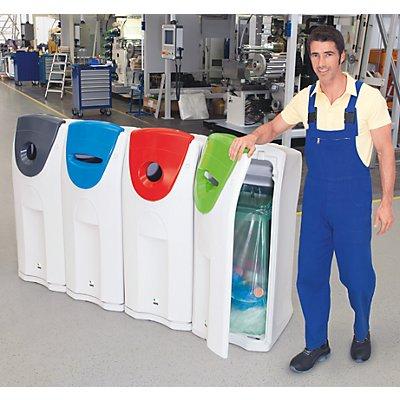 Maxi-Wertstoffsammler - Aufsatz blau - Deckel mit Einwurfschlitz