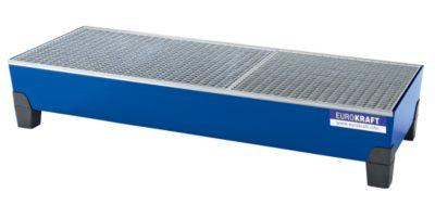 EUROKRAFT Stahl-Auffangwanne mit PP-Füßen - LxBxH 2010 x 815 x 360 mm