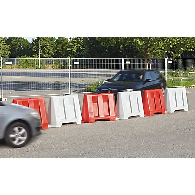 Fahrbahnbegrenzung - Set 9-teilig, zweifarbig - 5 x rot / 4 x weiß