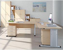 VERA Schreibtisch mit C-Fuß-Gestell - höhenverstellbar, Breite 1600 mm