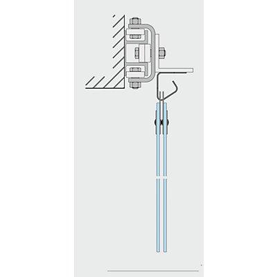 Schiebevorrichtung, pro lfd. m - für Wandmontage - Mehrpreis