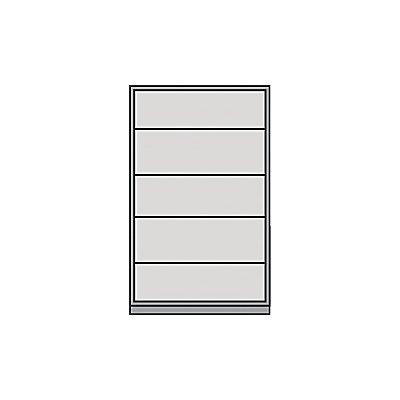 Mauser Schiebetürschrank - Schrank mit 4 Fachböden