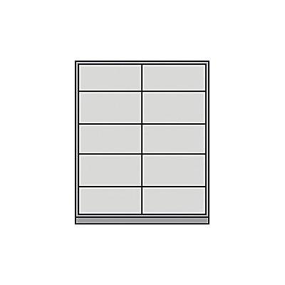 Mauser Schiebetürschrank - mit Glasfront, 8 Fachböden, Mitteltrennwand