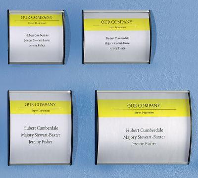 Aluminium-Türschild - im Hoch- oder Querformat, VE 10 Stk