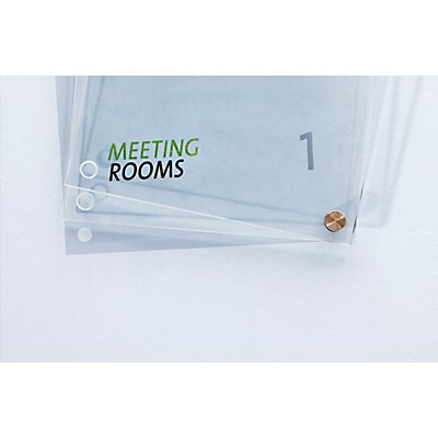 Moedel Türschild - aus ESG-Sicherheitsglas, VE 2 Stk - BxH 100 x 160 mm