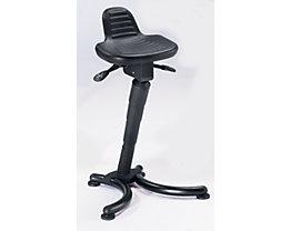 Assis-debout - assise plate avec dosseret rallongé