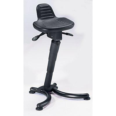 Stehhilfe - Flachsitz mit verlängerter Rückenstütze - Gasfeder-Höhenverstellung