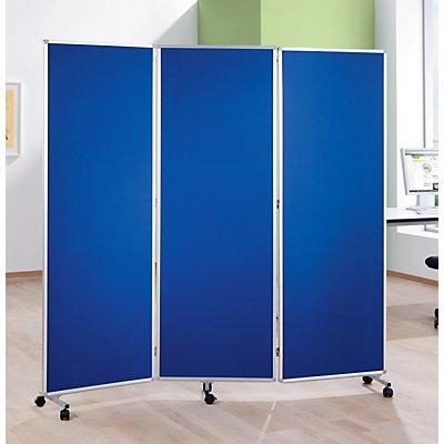 magnetoplan® Präsentationswand - faltbar und mobil - HxBxT 1810 x 1820 x 360 mm