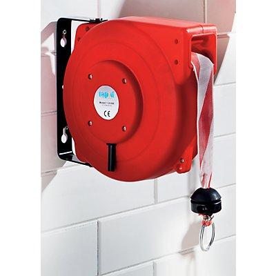 Absperraufroller, automatisch - mit Banderole rot / weiß - Gewicht 4,5 kg
