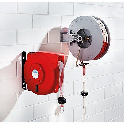 Absperraufroller, automatisch - mit Gliederkette rot / weiß - Gewicht 9 kg