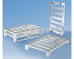 Heson Palette plate en aluminium - 4 pieds, L x l 1200 x 800 mm