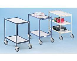 EUROKRAFT Tischwagen, Tragfähigkeit 150 kg - mit Schiebegriff