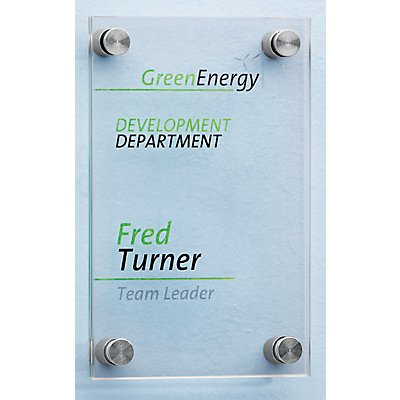 Türschild - aus ESG-Sicherheitsglas, VE 2 Stk