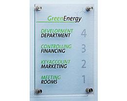 Infotafel - aus ESG-Sicherheitsglas