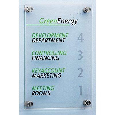 Moedel Infotafel - aus ESG-Sicherheitsglas