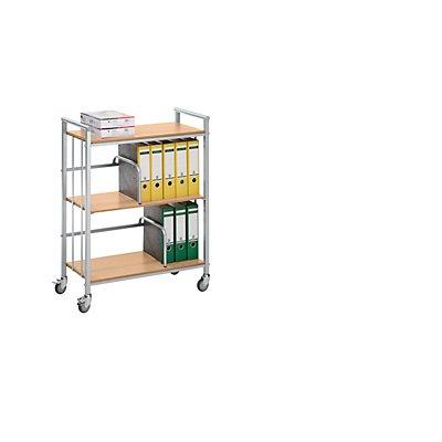 EUROKRAFT Bürowagen - Tragfähigkeit 100 kg - LxBxH 770 x 405 x 1020 mm