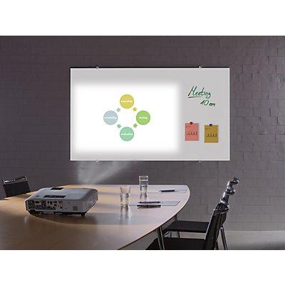 Smit Visual Glas-Projektionsboard - für Format 16 : 9 - BxH 1960 x 1100 mm
