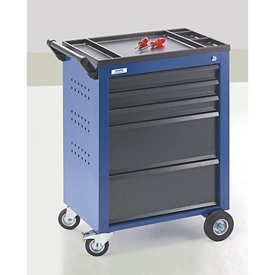 QUIPO Servante d'atelier - 5 tiroirs à blocage individuel