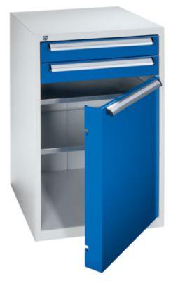 QUIPO Werkzeugschrank - Höhe 1000 mm, Schubladen 2 x 100 mm, Tür 1 x 700 mm - Breite 600 mm
