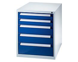 QUIPO Werkzeugschrank - Höhe 800 mm, Schubladen 2 x 100, 2 x 150, 1 x 200 mm