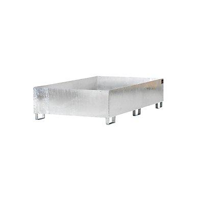 Regal-Bodenwanne, 240 l Auffangvolumen, LxBxH 2650 x 1300 x 210 mm