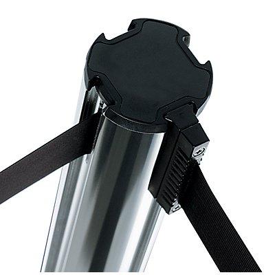 VIAGUIDE Gurtpfosten aus Aluminium - Bandauszug 3700 mm