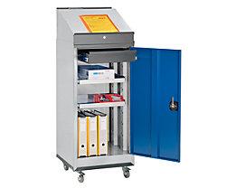 QUIPO Kit pupitre - armoire à outils, pupitre et train de roulement