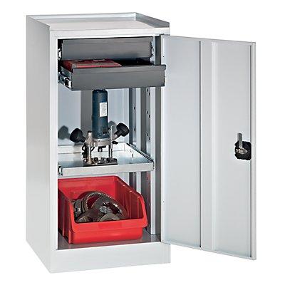 quipo werkzeug und beistellschrank 2 schubladen 1 fachboden. Black Bedroom Furniture Sets. Home Design Ideas