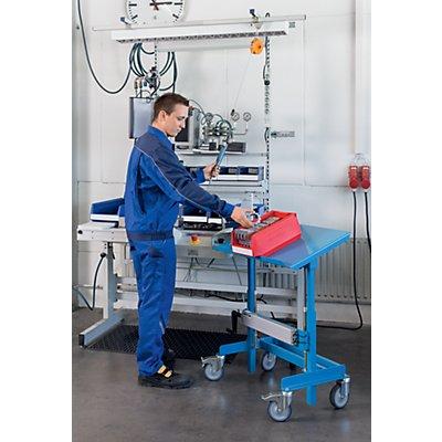 EUROKRAFT Materialständer - Tragfähigkeit 250 kg - lichtblau