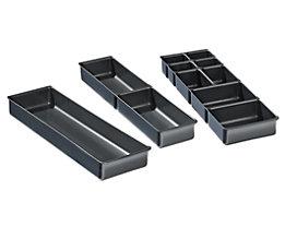 Schubladeneinteilungsset - 3 Einsätze variabel - Kunststoff