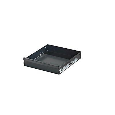 Schublade, einzeln - mit Teleskopführungsschiene - Höhe 75 / 62 mm