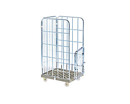 socle roulant en bois Roll-conteneur /à panneaux grillag/és h x l 1520 x 640 mm 3 c/ôt/és Chariot grillag/é Conteneurs de transport Roll-conteneurs Chariots grillag/és Conteneur de transport