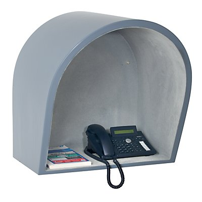 Telefonhaube - HxBxT 615 x 590 x 470 mm - grau