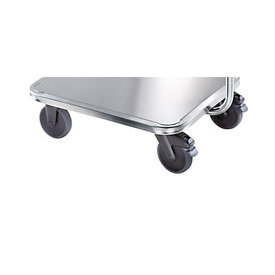 Rieber Edelstahl-Griffroller - Radsatz Kunststoff - Tragfähigkeit 150 kg