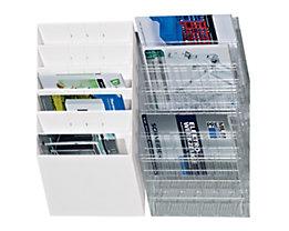 Durable Distributeurs muraux de prospectus - format horizontal, 6 x A4, lot de 2