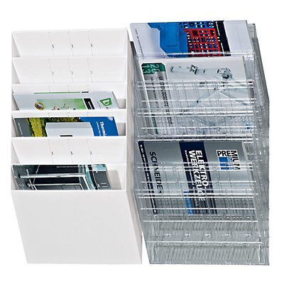 Durable Distributeurs muraux de prospectus - format horizontal, 6 x A4, lot de 2