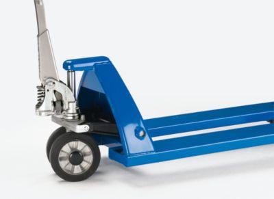 EUROKRAFT Paletthubwagen mit QuickLift - Lenkräder Polyurethan, Lastrollen Polyurethan