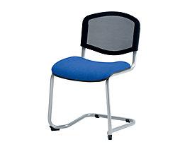 Chaise empilable à piétement luge - dossier résille, piétement coloris aluminium