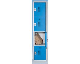 QUIPO Schließfachschrank - Breite 300 mm, 4 Fächer