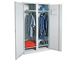 Garderobenschrank - 1 Mitteltrennwand, 4 Fachböden