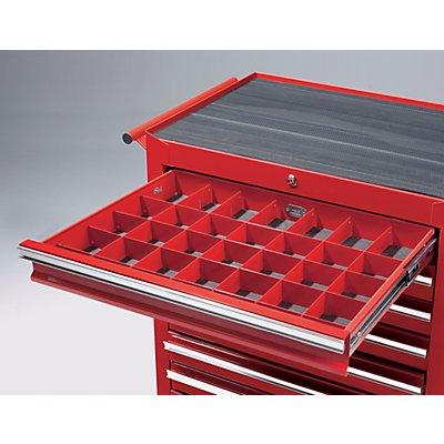 Schubladeneinteilungsset - 3 Längs- und 5 Querteiler - für Schubladen HxB 75 x 570 mm