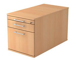 office akktiv Rollcontainer - 1 Utensilienschub, 1 Materialschub, 1 Hängeregistratur, Tiefe 800 mm