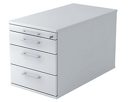 office akktiv Rollcontainer - 1 Utensilienschub, 3 Materialschübe, Tiefe 800 mm