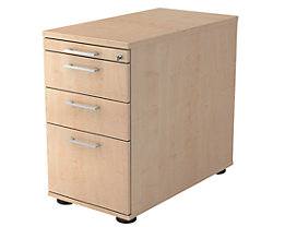 office akktiv Caisson fixe - 1 tirette-plumier, 2 tiroirs, 1 tiroir pour DS