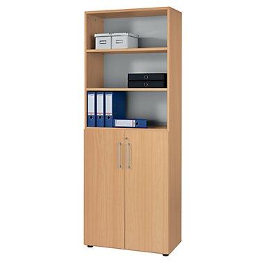 HAMMERBACHER RENATUS Büroregalschrank - 5 Fachböden, 6 Ordnerhöhen, davon 3 offen