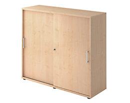 office akktiv Armoire à portes coulissantes - hauteur 1100 mm, 2 tablettes