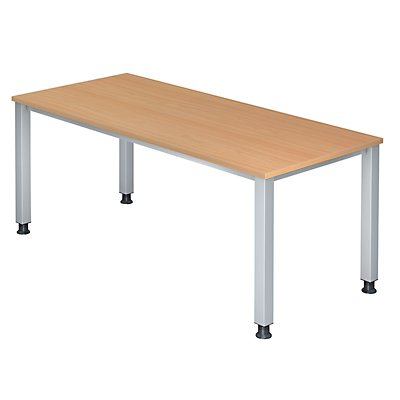 office akktiv RENATUS Schreibtisch - 4-Fuß-Gestell, Breite 1800 mm
